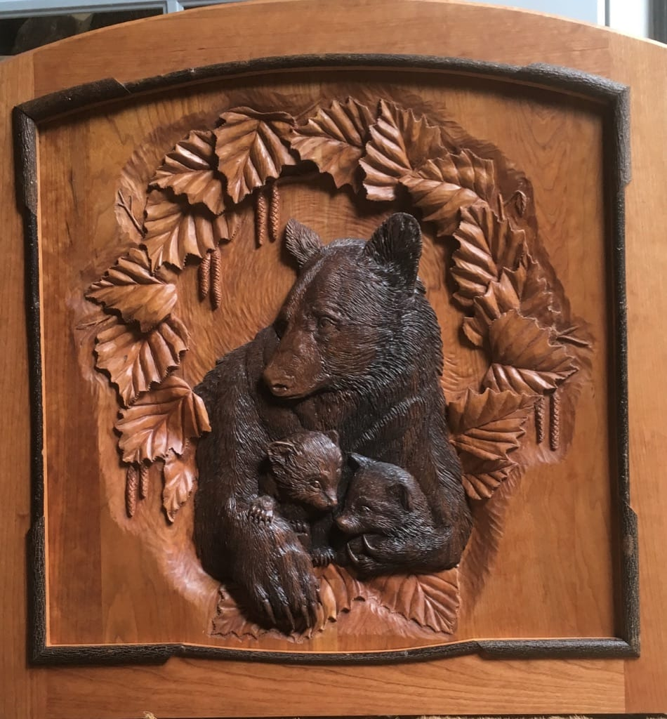 Bear relief carving stock photo edit now shutterstock