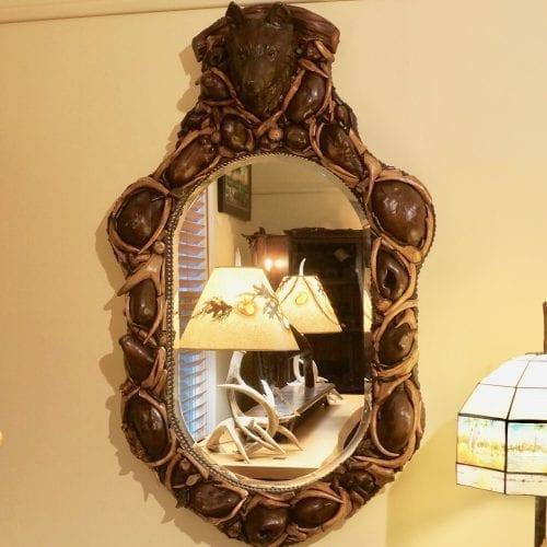 adirondack style mirror
